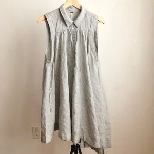 Free people dress striped high low shirt size:S